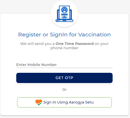 Covid Vaccination Registration Login