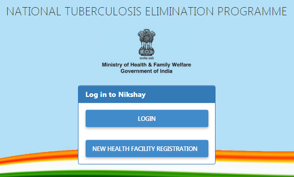 Nikshay Poshan Yojana Home page