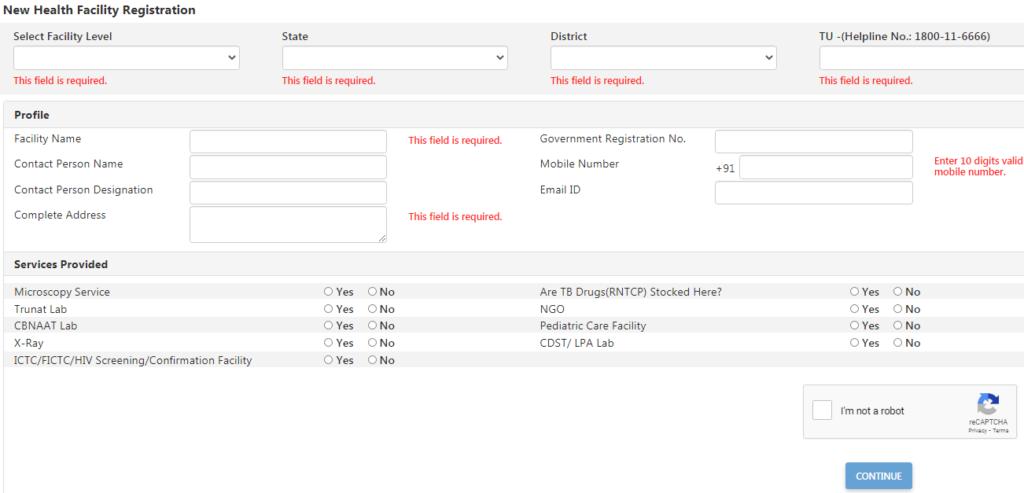 Nikshy Poshan Yojana New User Registration Form