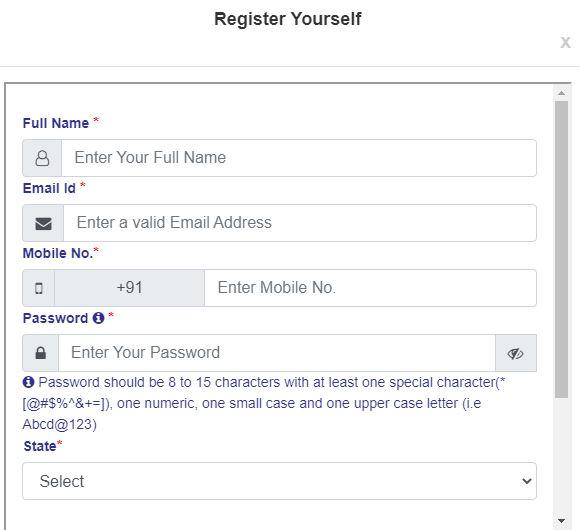 Bihar RTPS Self Registration Form