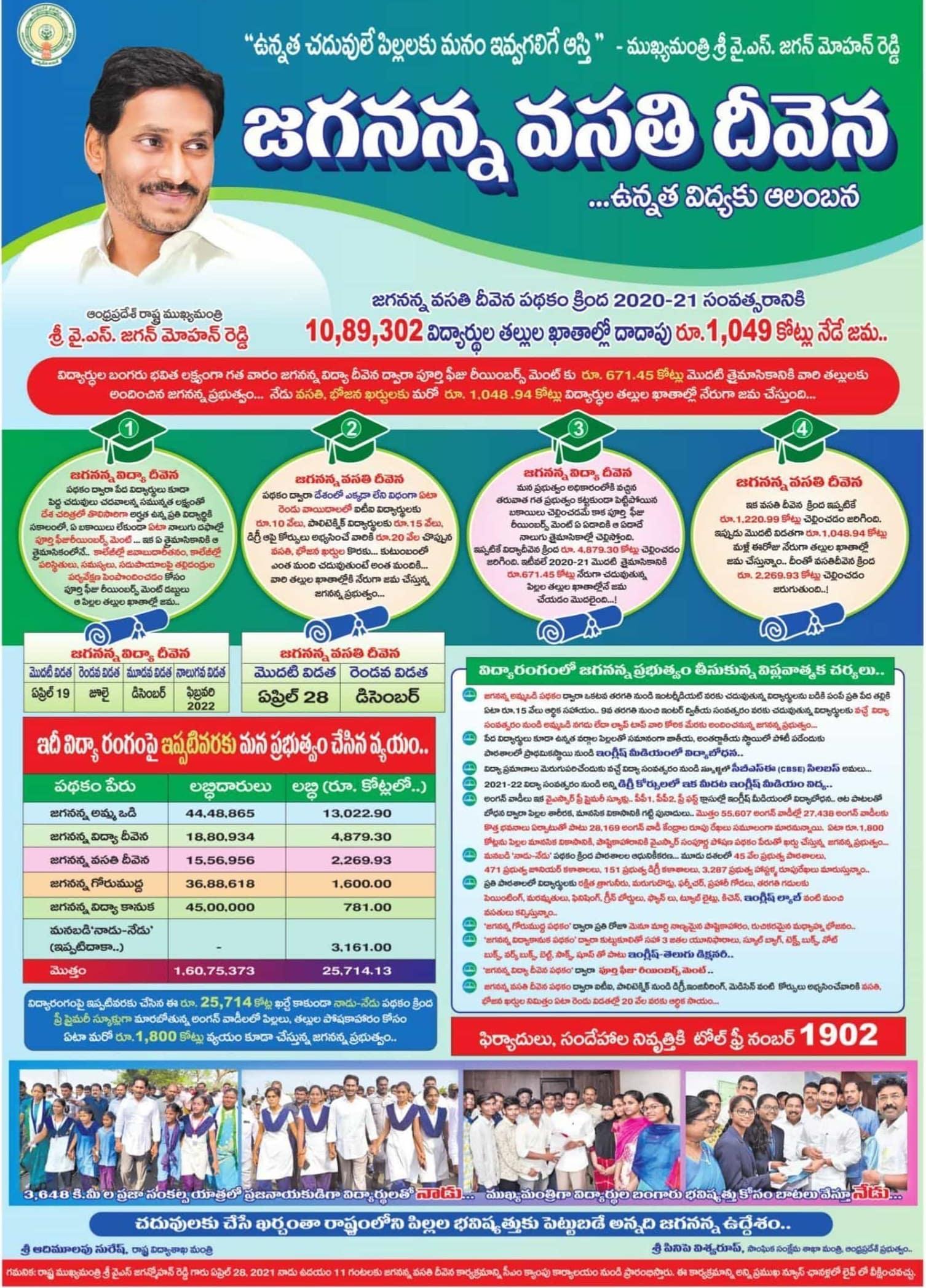JVD-Jagananna-Vasathi-Deevena-Scheme-payment-details