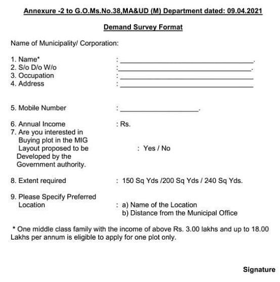Jagananna Smart Town Application Form PDF