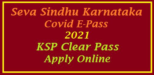 KSP Clear Pass Seva Sindhu Apply Online