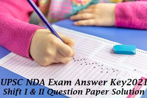 NDA 2021 Exam Answer key Question Paper Solution