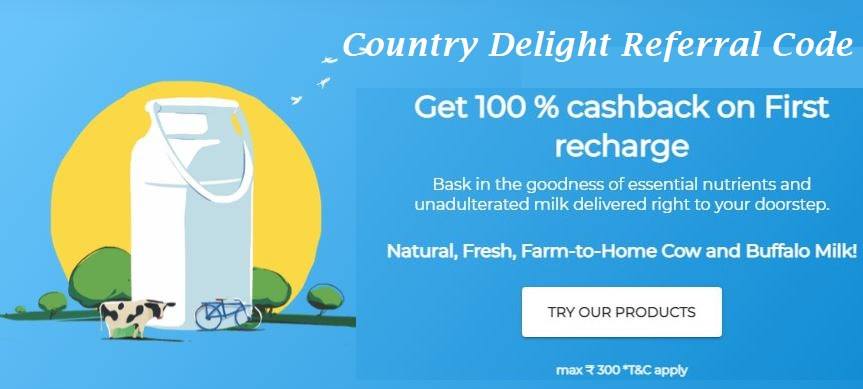 Country Delight App Referral Code