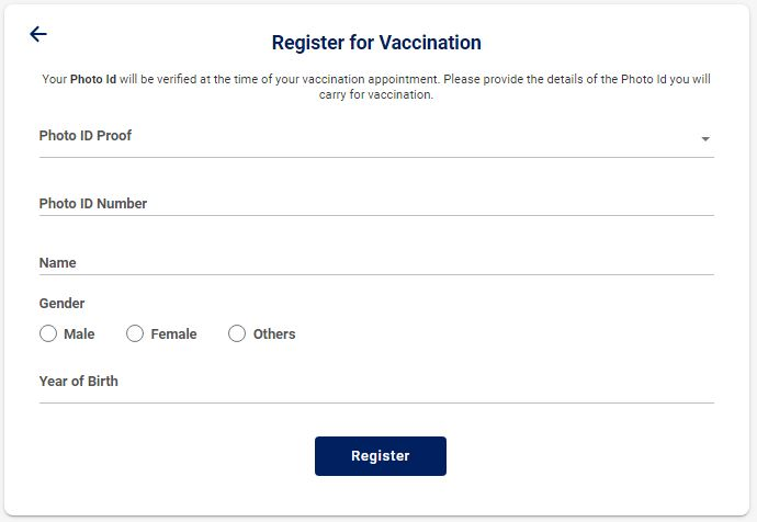 Register for Vaccination